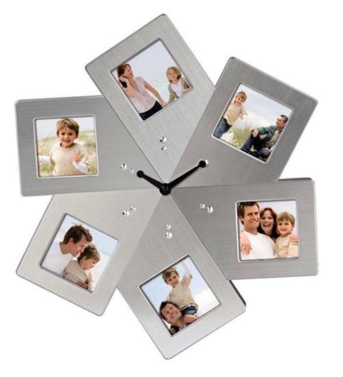 Часы из фотографий на стену