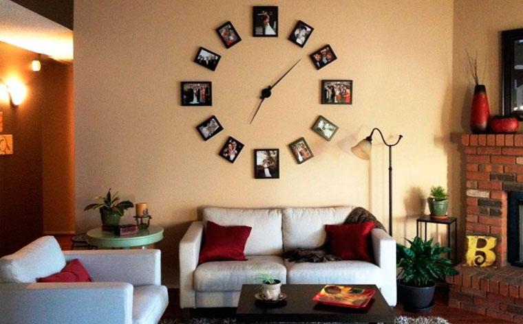 Часы из фотографий на стену своими руками, фотография на часах