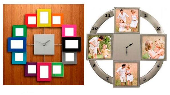 Часы из фото на стену своими руками 618