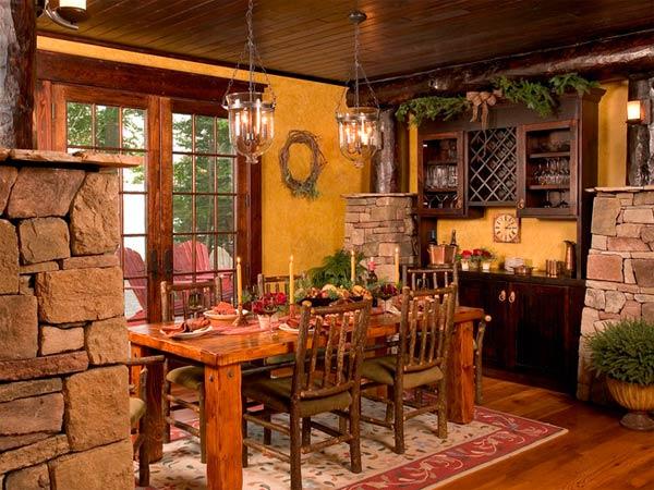 Отделка дома в деревенском стиле