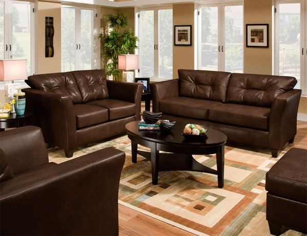 Choose natural or artificial leather sofas