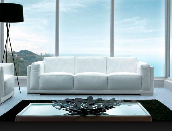 light leather sofa