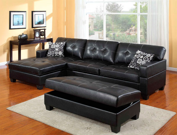 Smooth leather is the most common type of upholstery.