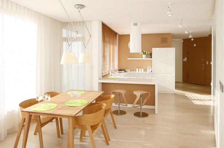 Кухня столовая дизайн интерьер – фото