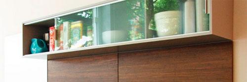 Также могут быть использованы раздвижные двери кухонных шкафов