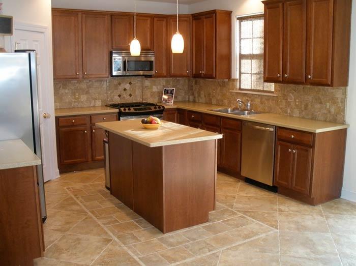 Керамическая плитка на пол для кухни фото