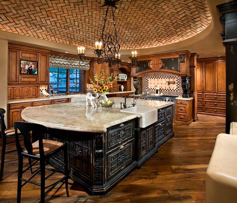 Кухня-столовая – дизайн интерьер фото частного дома