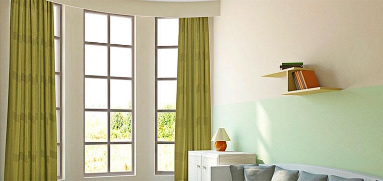 Интерьеры потолочных штор, шторы в зал на потолочный карниз