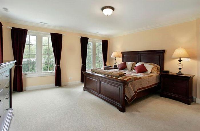 какие цвета для спальни с темным гарнитуром можно использовать