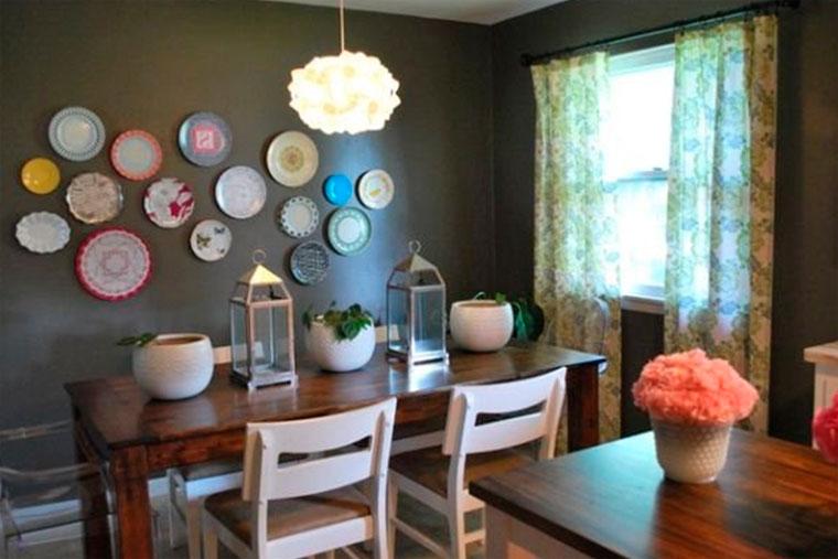 Декоративные тарелки на стену на кухне