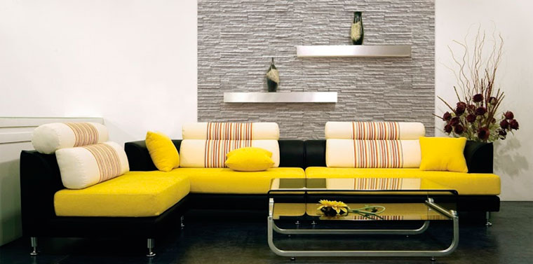Искусственный камень для стен в квартире – черный и белый