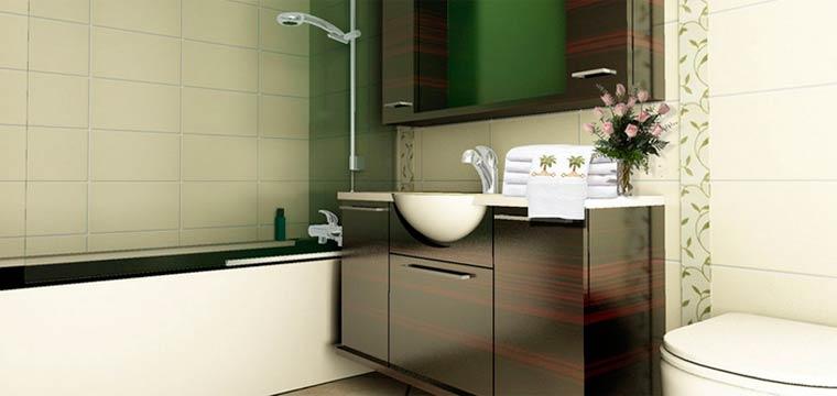 Отделка ванной комнаты небольшой