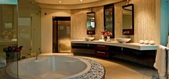 Две раковины в ванной, двойная раковина с тумбой