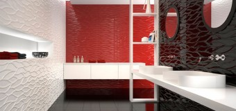 Керамическая 3d плитка в ванную и гостиную, декоры с 3D эффектом