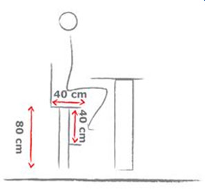 Высота и другие параметры барной стойки и стула