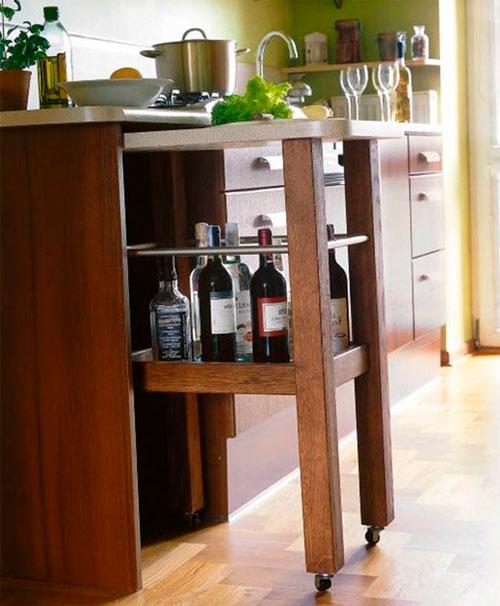 Кухонные барные стойки для маленькой кухни