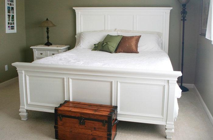 Как покрасить кровать в белый цвет
