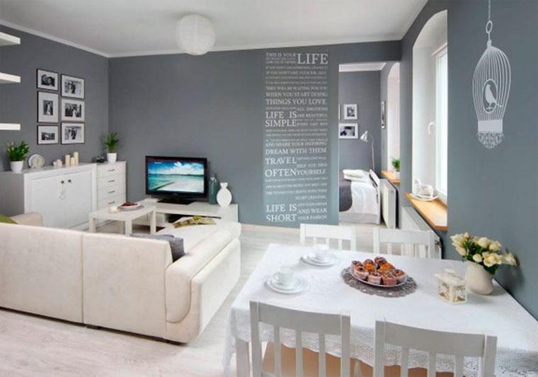 Белый пол серые стены