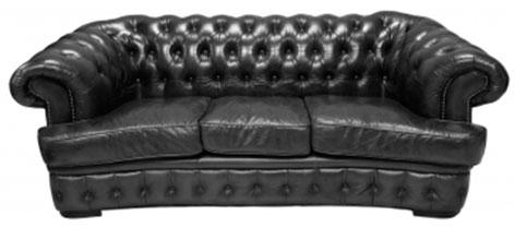Натуральные черные кожаные диваны, экокожа черная