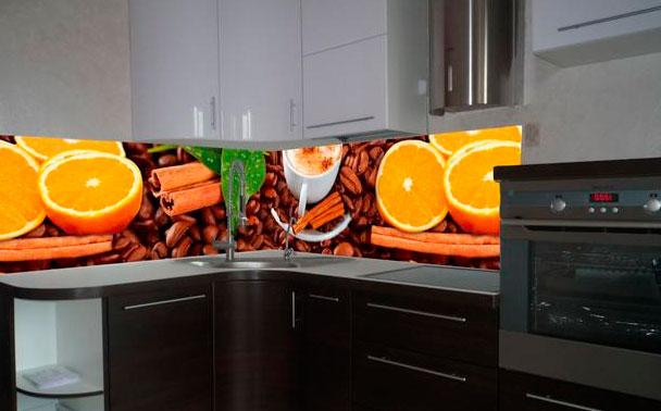 Фартук на кухню с декором