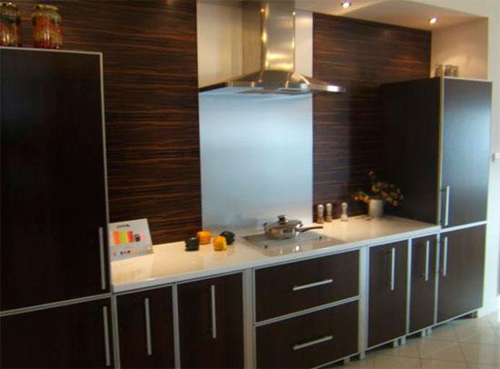 Панель пвх для кухни, фартук с листом из нержавющей стали