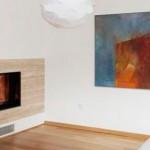 Керамическая плитка под дерево на стены гостиной