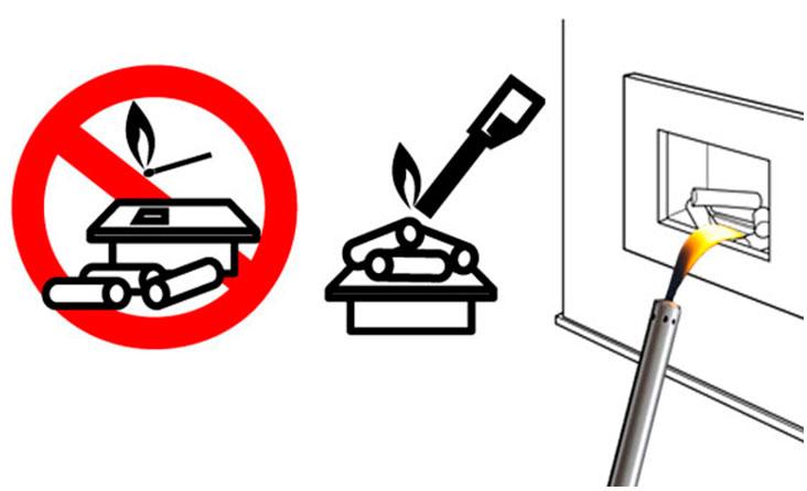 Основные правила безопасности при разжигании биокамина
