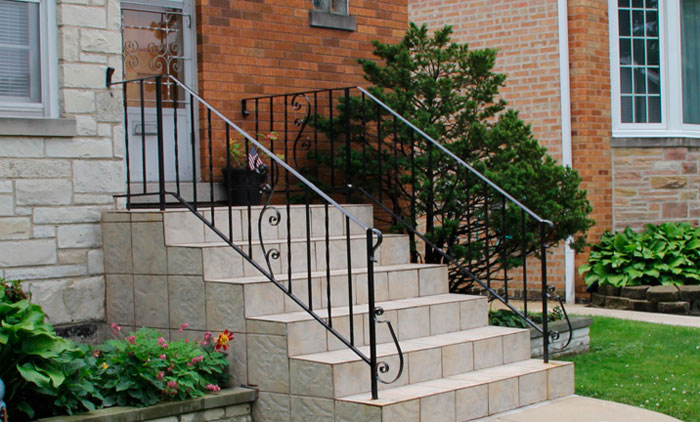 Внешние ступени для лестницы из керамогранита