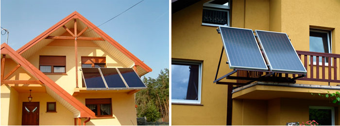Солнечный коллектор на балконе