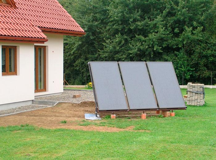 Отдельно стоящие солнечные панели для воды