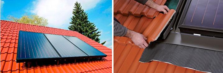 Установка солнечных коллекторов на крыше домов своими руками
