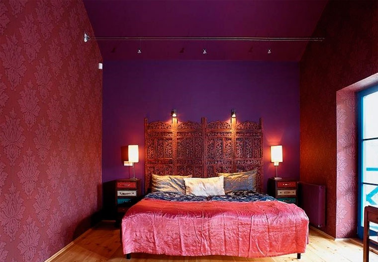 Спальня в красном стиле – восточное вдохновение