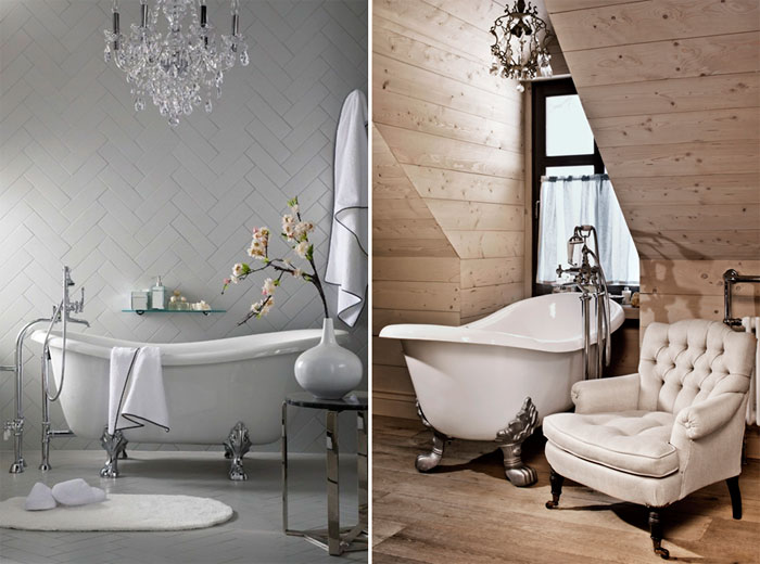 Сантехника в ванной в классике