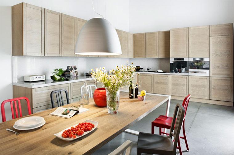 Скандинавская кухня, полная света