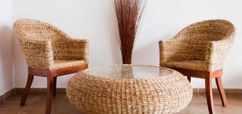 Плетеная мебель из ротанга для дачи