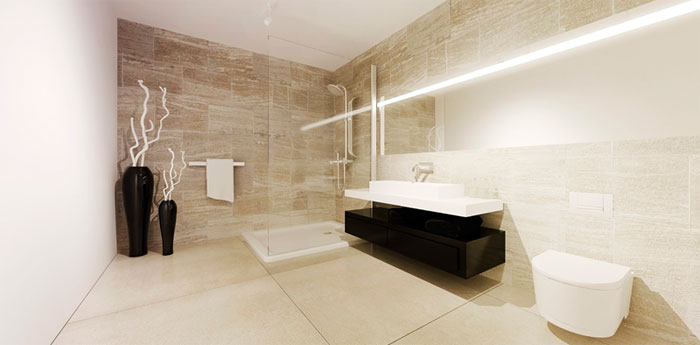 Modern minimalism bathroom
