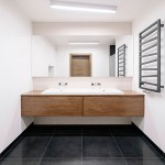 Bathroom interior - minimalism with Scandinavian features