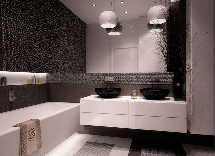 minimalist bathroom - choose furniture and decor