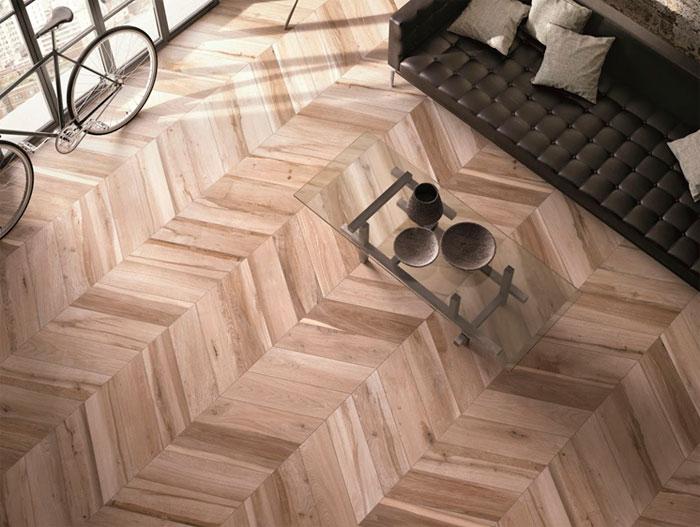 herringbone tile laying