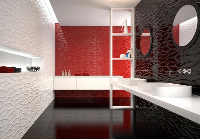Трехмерные стеновые плитки из коллекции 3D