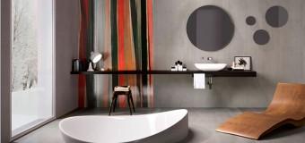 Большая плитка в ванную комнату