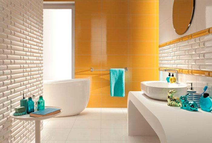 Желтый в ванной