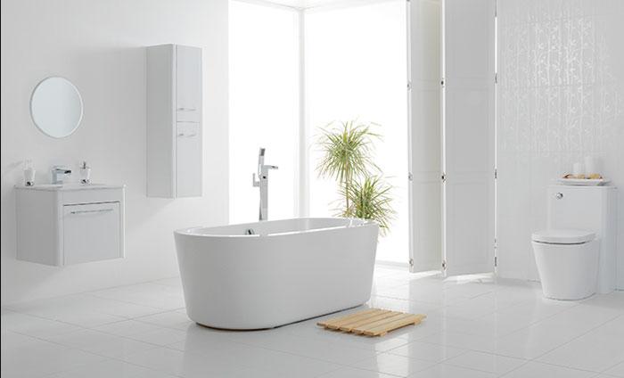 Белая ванная комната – кафель, варианты дизайна