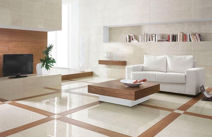 Плитка для гостиной на пол – преимущества и недостатки