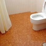 Пробковый пол в ванной