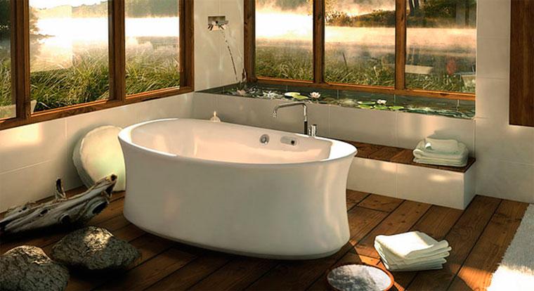 Скандинавский стиль в ванной комнате