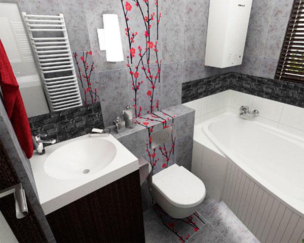 Дизайн ванной комнаты плитка 4 кв м с туалетом