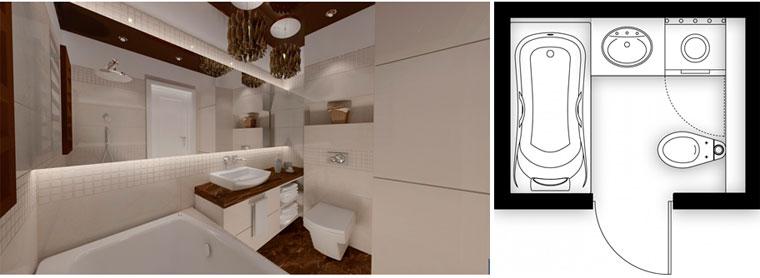 Дизайн ванной комнаты фото 4 кв м с туалетом и стиральной машиной