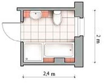 Дизайн ванной 4,8 кв. м