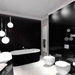Дизайн ванной комнаты c белой плиткой